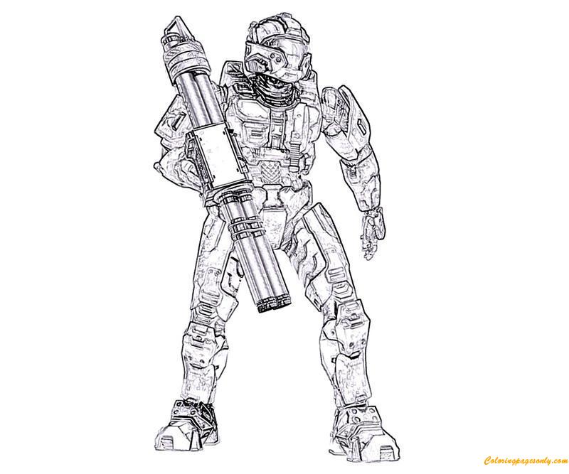 Halo Elite Superhero Coloring Page