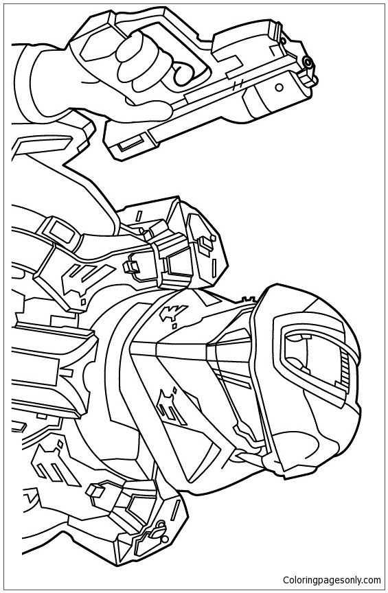 Halo Hero Coloring Page
