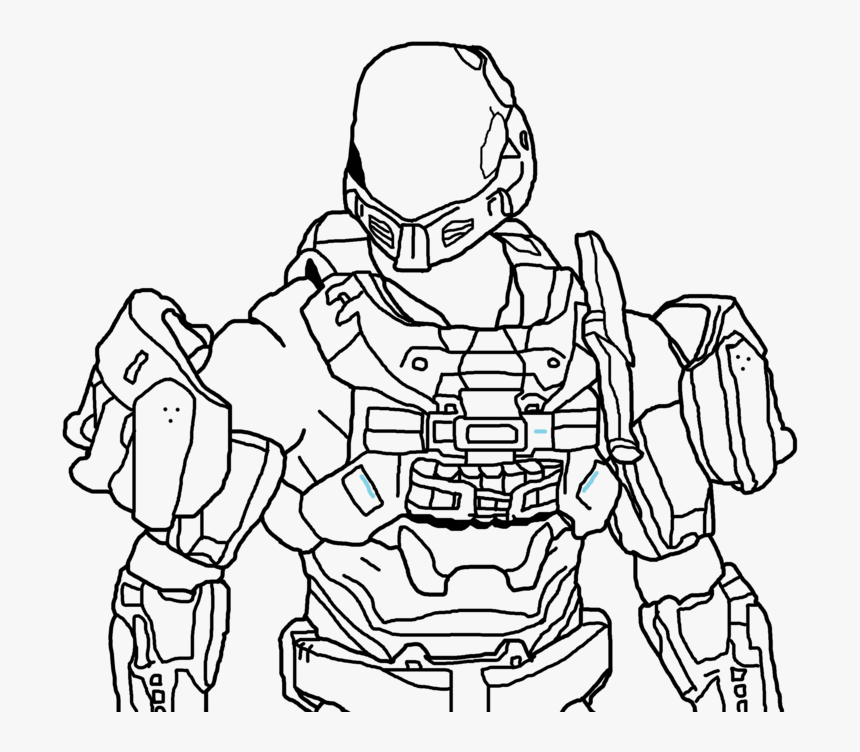Halo odst Coloring Page