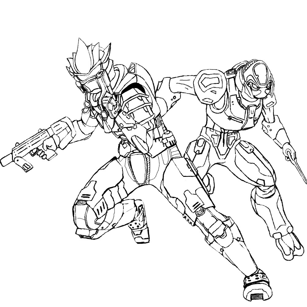 Halo Reach Emile Coloring Page