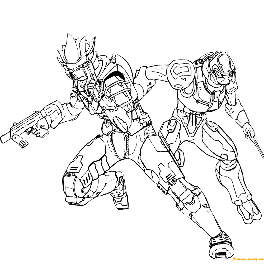 Halo Reach Emile Coloring Page Free