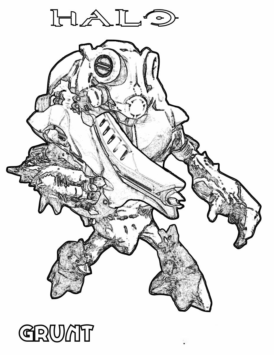 Halo reach grunt Coloring Page