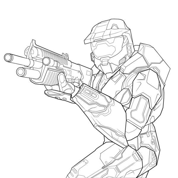 Halo Reach Hero Coloring Page