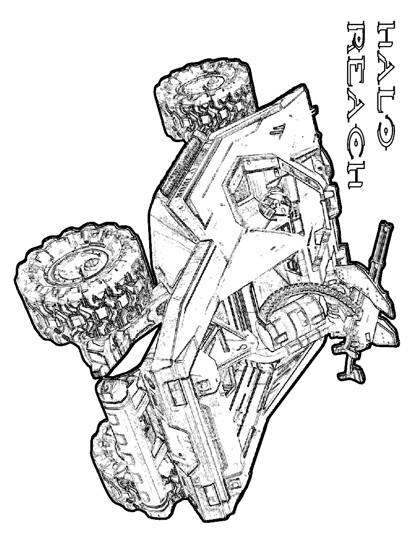 Halo Reach Warthog Coloring Page