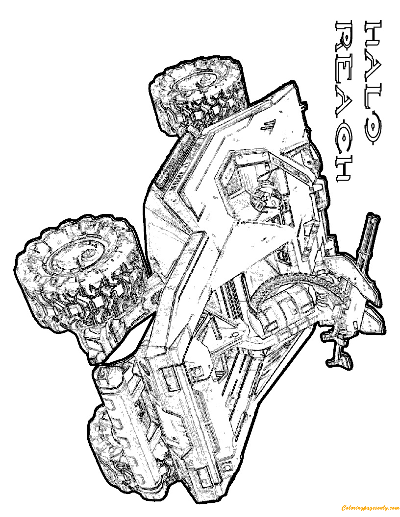 Halo Reach Warthog Coloring Page Free Coloring Pages Online