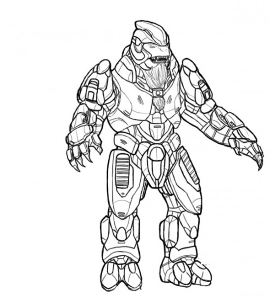 Halo The Flood Coloring Page