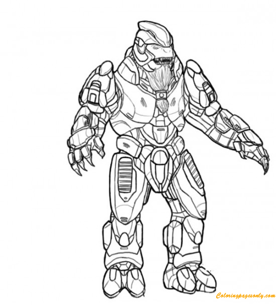 Halo The Flood Coloring Page Free
