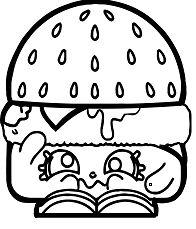 Hamburger Of Shopkins Coloring Page