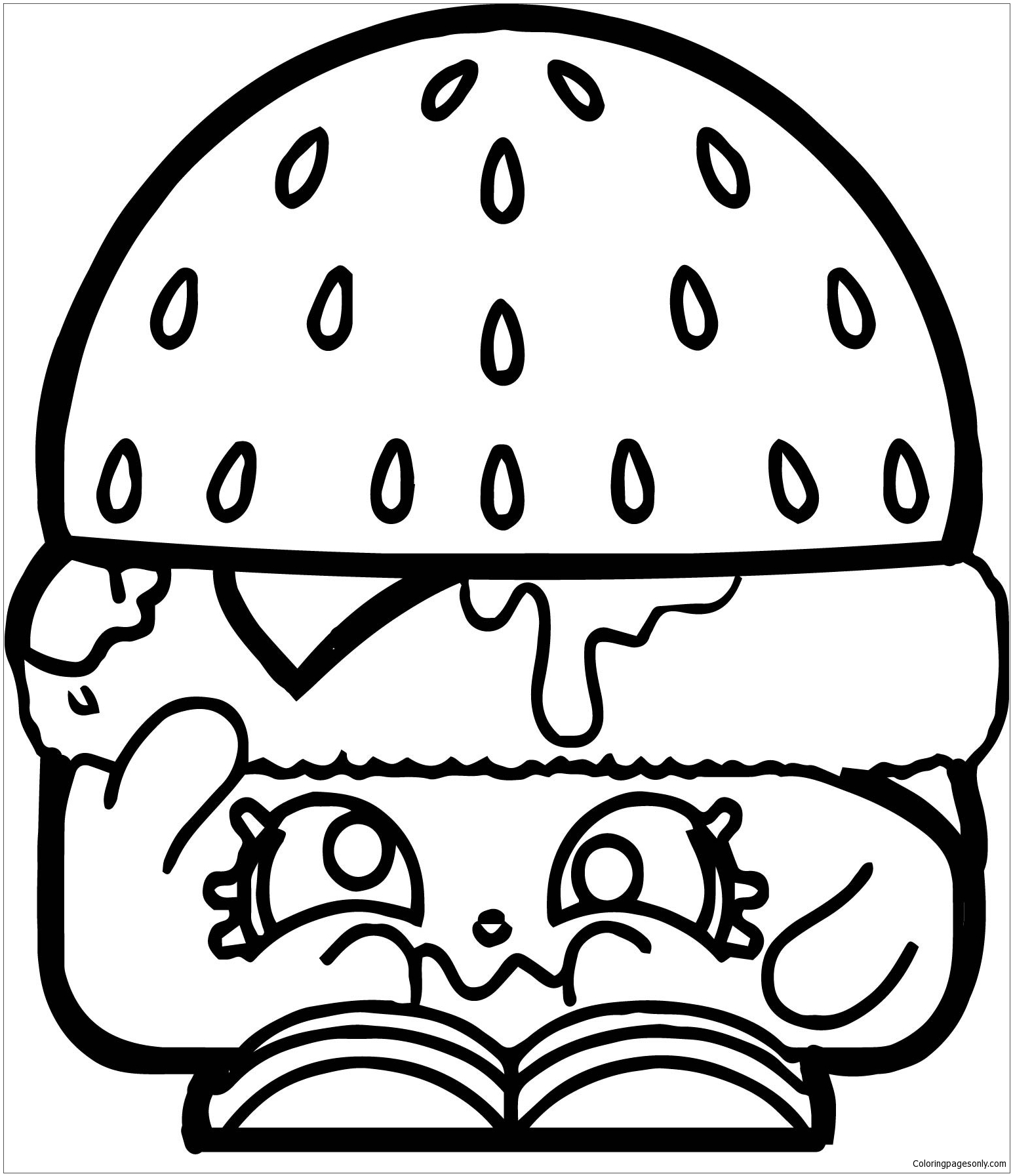 - Hamburger Of Shopkins Coloring Page - Free Coloring Pages Online