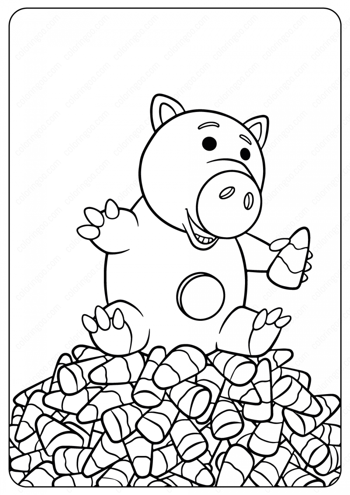 Hamm Coloring Page