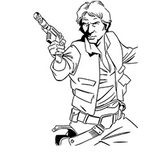 Han Solo Starwar Coloring Page