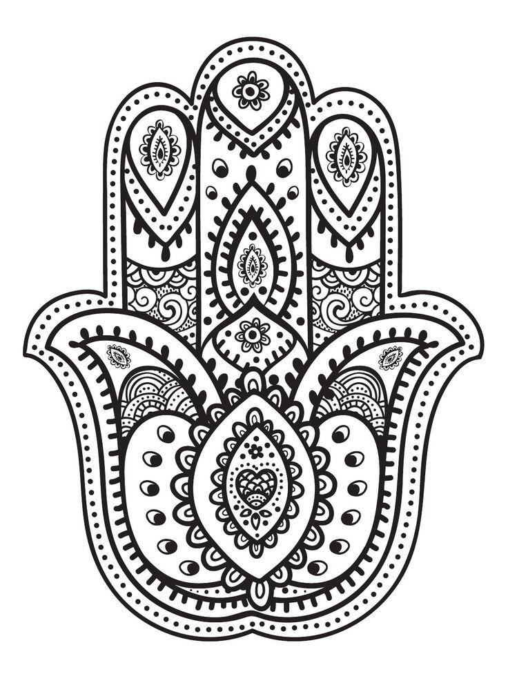 Hand of Fatima Coloring Page