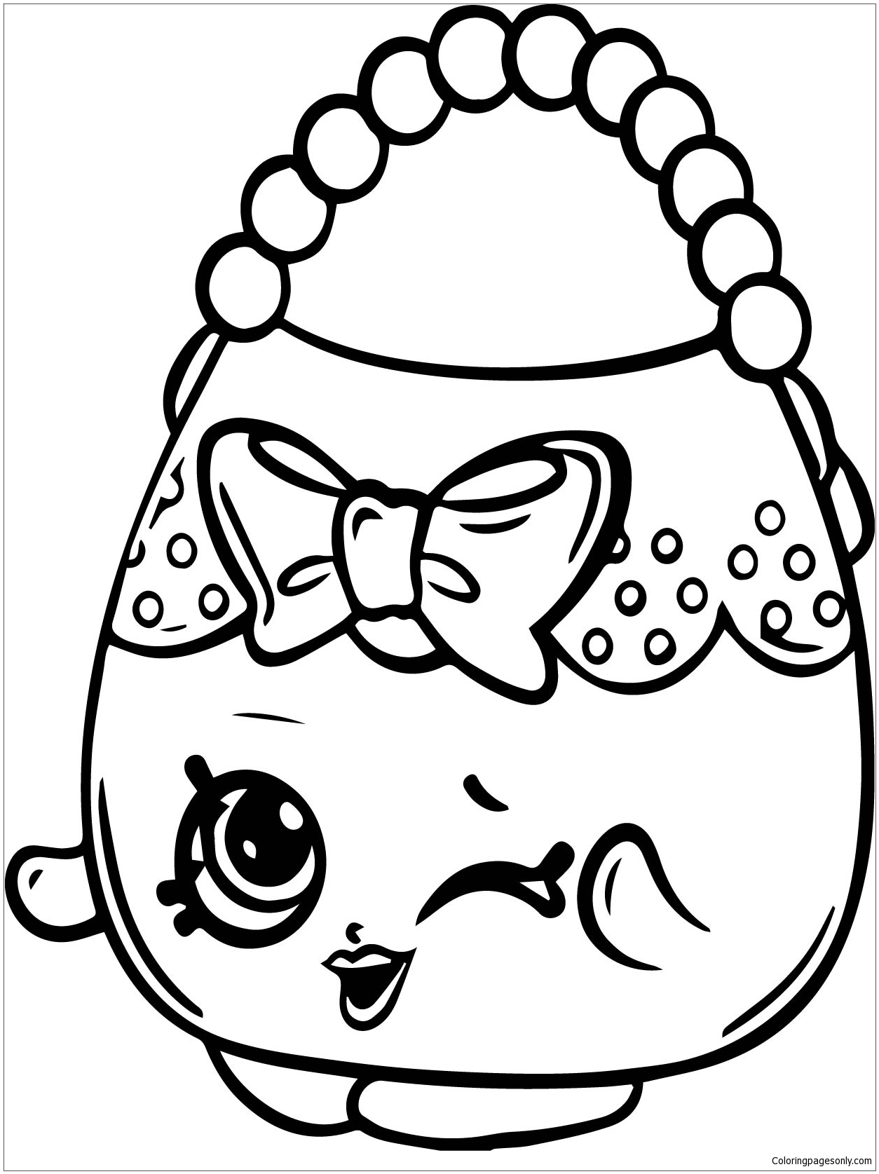 Handbag Harriet Shopkins Season 4 Coloring Page Free