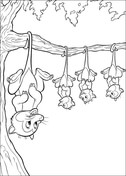 Sloths Hanging on The Tree  from Bambi Coloring Page