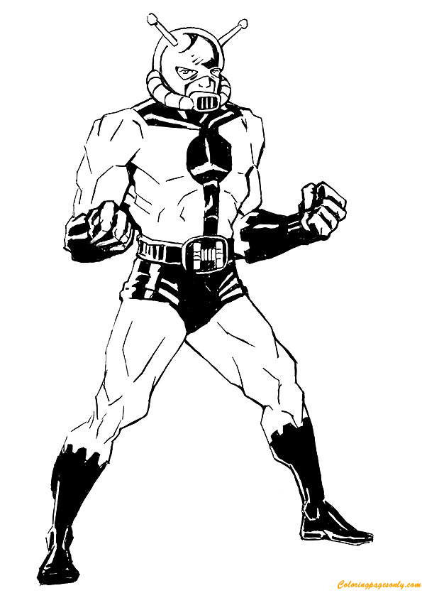 Hank Pym Avengers Coloring Page