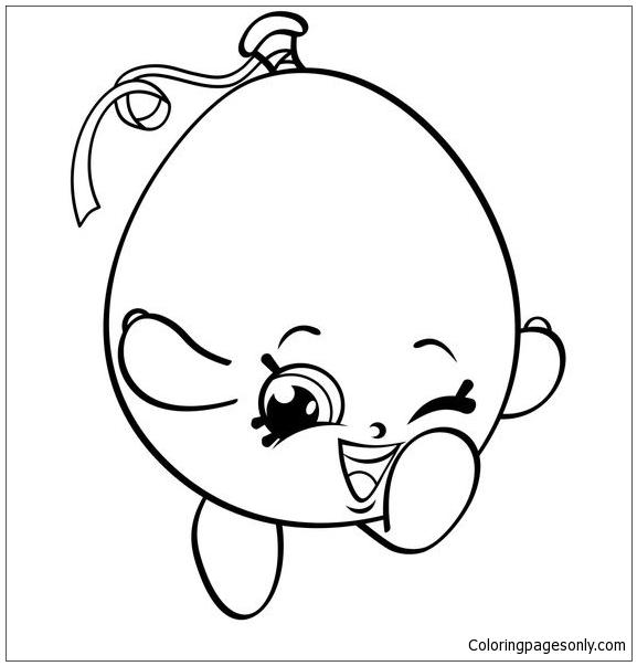 Happy Balloon Shopkins Coloring Page