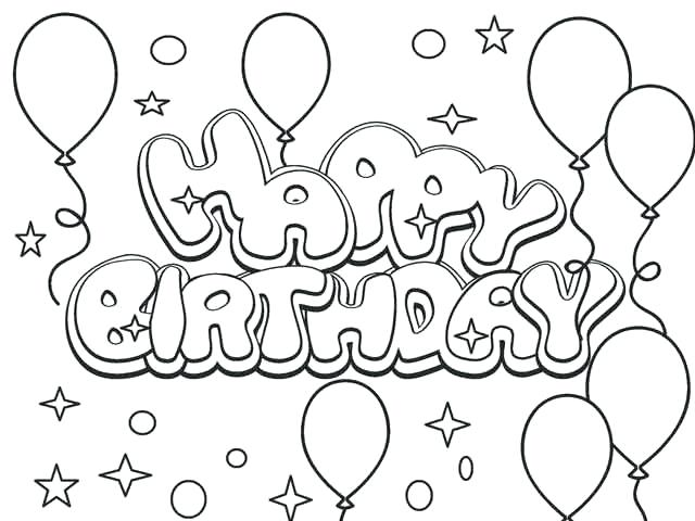 Happy birthday for kids Coloring Page