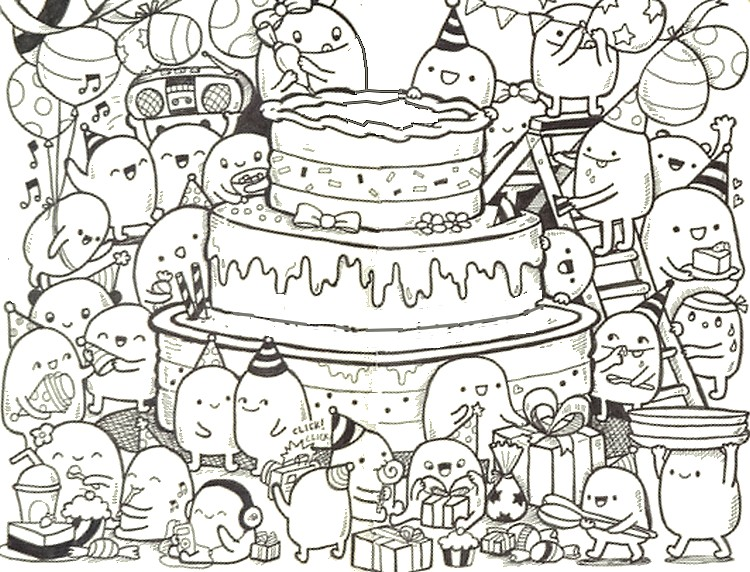 Happy Birthday Therapy Coloring Page