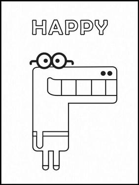 Happy Bluey Character