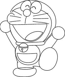 Happy Doraemon Coloring Page