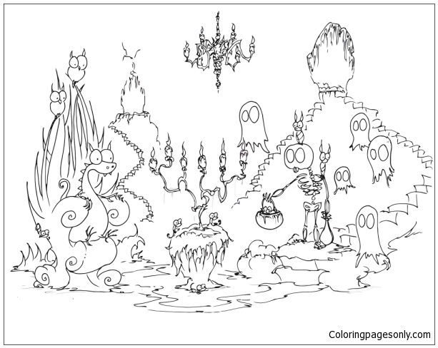 Happy Halloween 13 Coloring Page