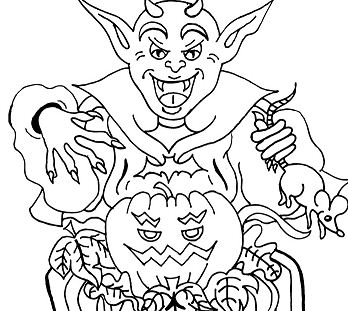 Happy Halloween 3 Coloring Page