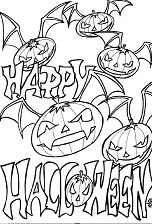 Happy Halloween 4 Coloring Page
