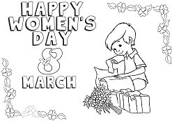 Happy International Womens Day Coloring Page