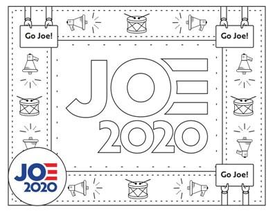 Happy Joe Biden 2020 Coloring Page