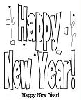 Happy New Year 1 Coloring Page