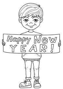 Happy New Year Boy