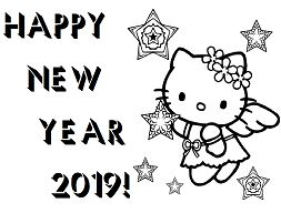 Happy New Year Hello Kitty 2019