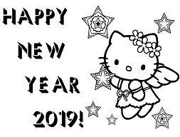 Happy New Year Hello Kitty 2019