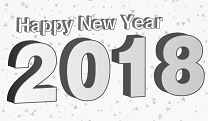 Happy New Year Party 2018 Coloring Page