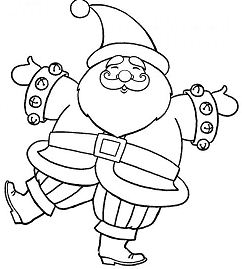 Happy Santa Claus Dancing Happily Christmas