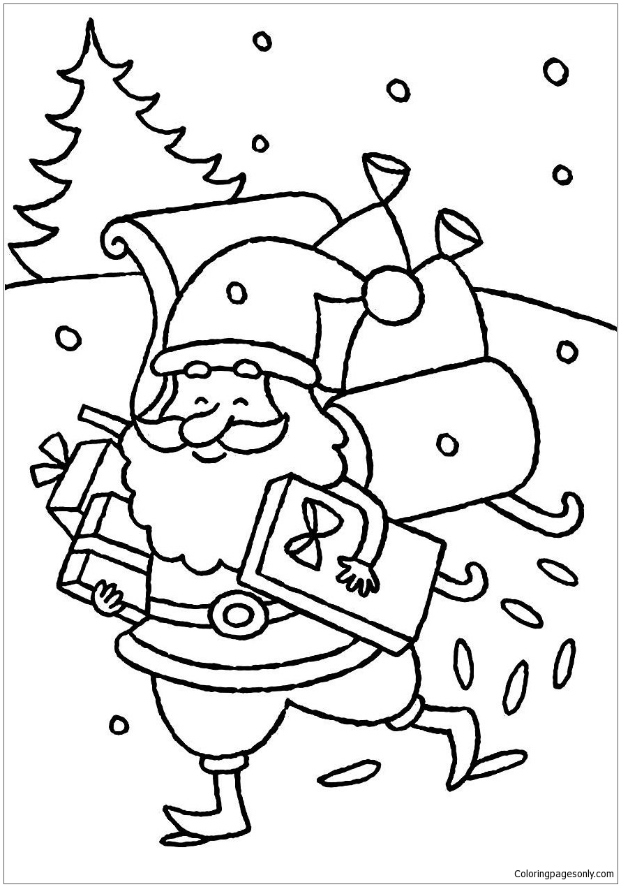 And Sleigh Coloring Page 134 tom and jerry color pages coloring ...