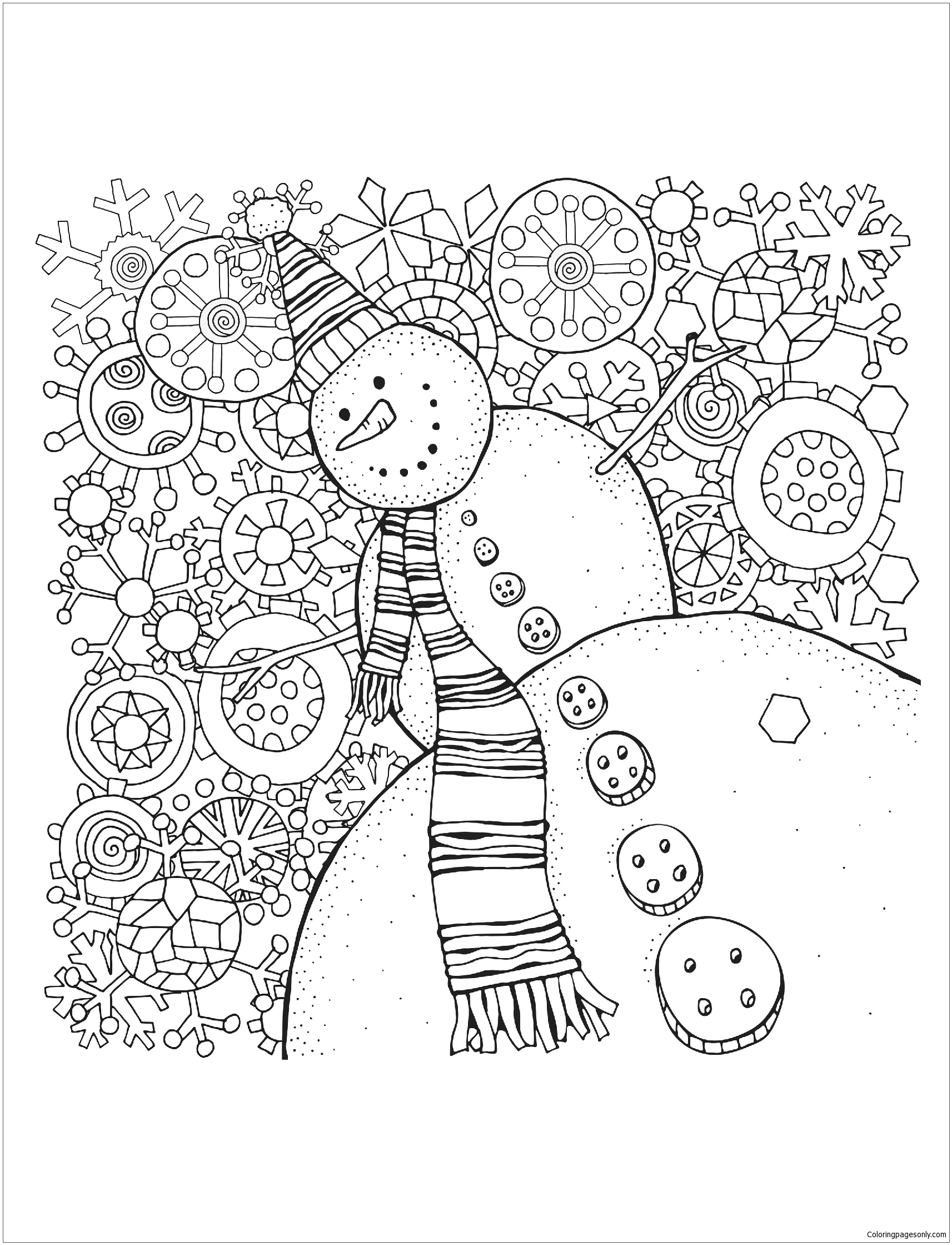 Winter Coloring Pages - ColoringPagesOnly.com