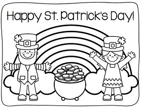 Happy St Patricks Day Rainbow Coloring Page
