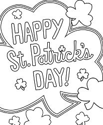 Happy St. Patrick s Day Coloring Page