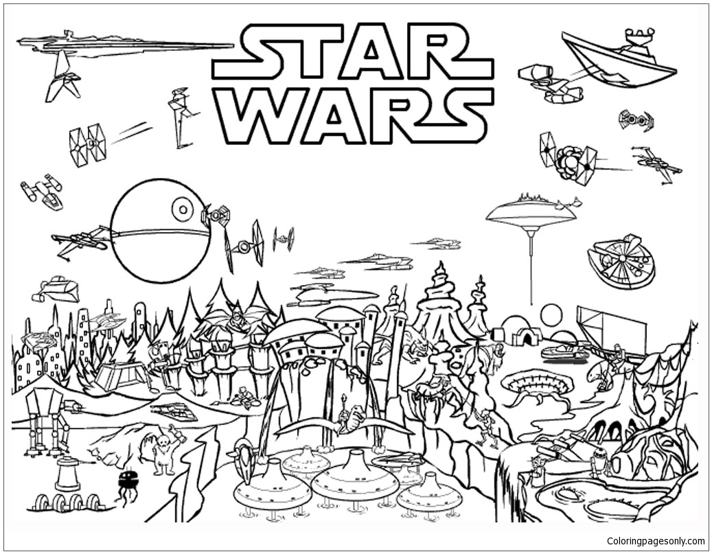 Happy Star Wars Day Coloring Page