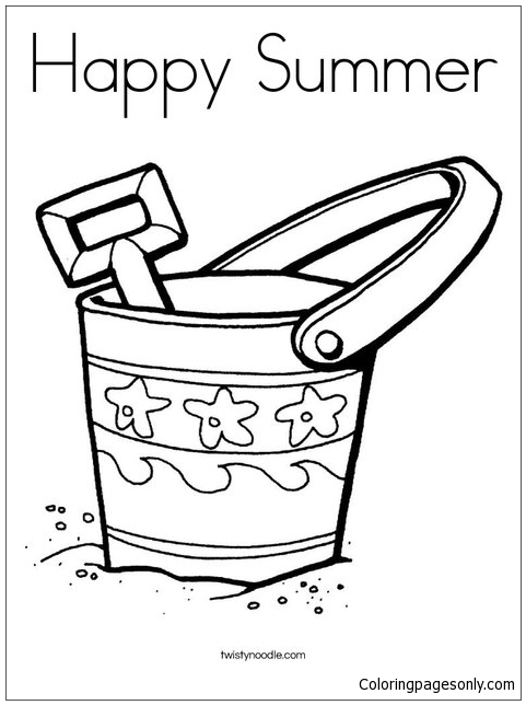 Bucket And Shovel Coloring Page Sketch Coloring Page   Coloring ...   644x481
