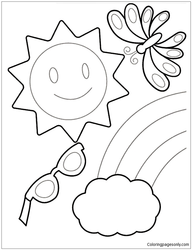 Happy Summer Coloring Page Free Coloring Pages Online