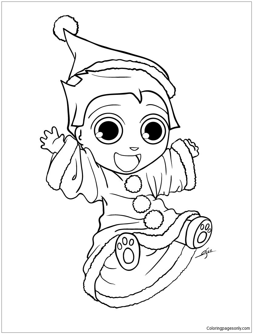 Elf Coloring Pages Bring A Gift ColoringStar