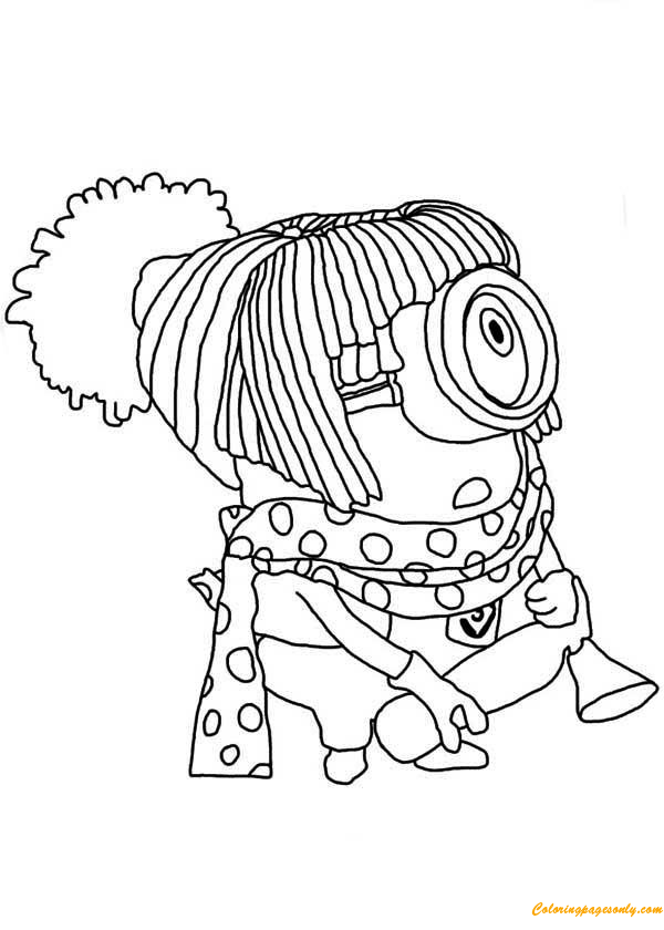Harajuku Minion Coloring Page Free Coloring Pages Online