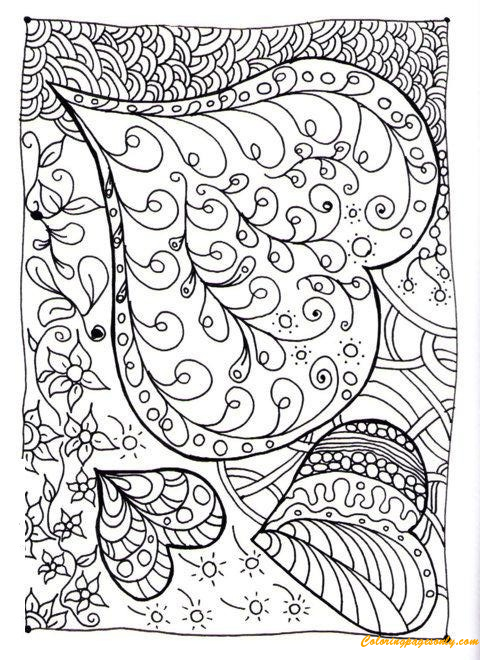 Hard Heart Patterns Coloring Page Free Coloring Pages Online