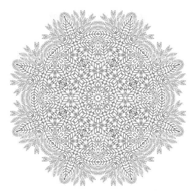 Hard Mandala Christmas Coloring Page