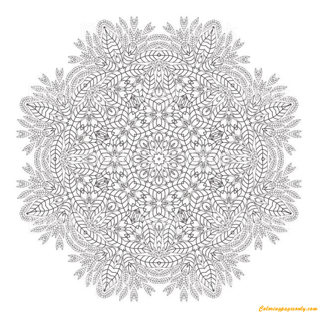 Hard Mandala Christmas Coloring Page - Free Coloring Pages Online