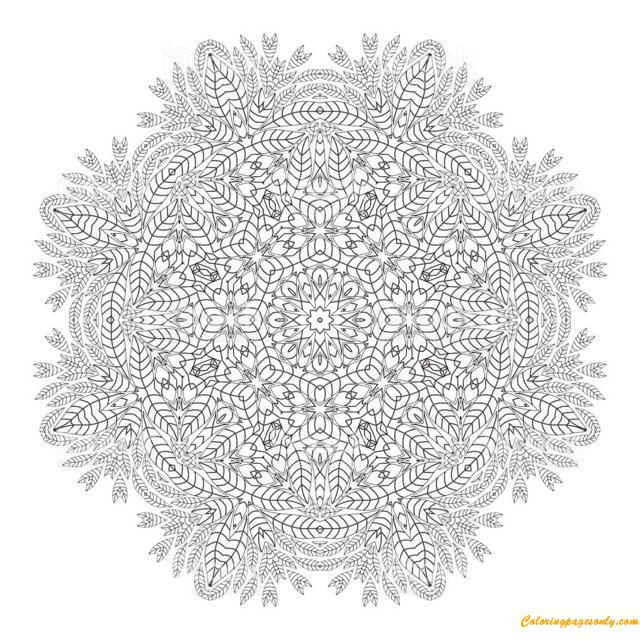 Hard Mandala Christmas Coloring Page Free Coloring Pages