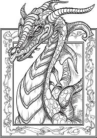 Hard Of Dragons Coloring Page