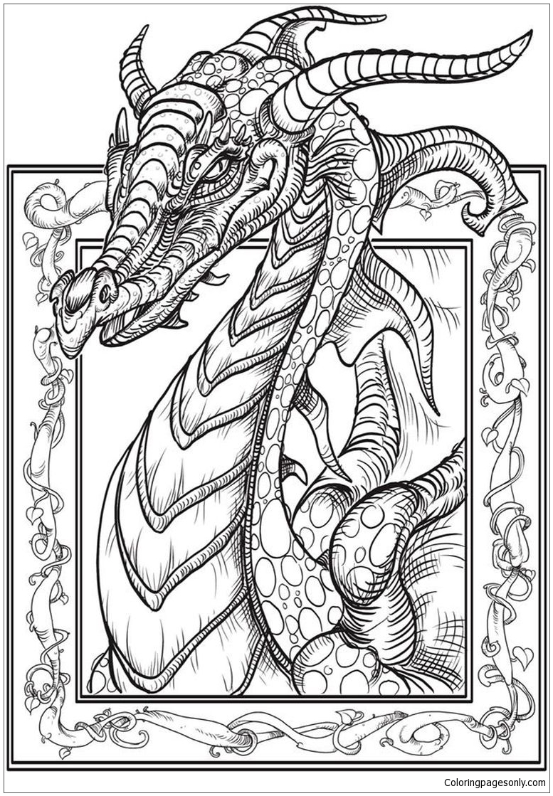 Hard Of Dragons Coloring Page Free Coloring Pages Online